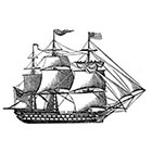 Taboo Tattoo 2 Vintage Engraved Ship Temporary Tattoo, various sizes and colors available Pirate biker Halloween