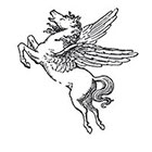 Taboo Tattoo 2 Vintage Winged Pegasus Temporary Tattoo, various sizes available