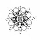 Taboo Tattoo 2 Hand Drawn Mandala Temporary Tattoo, various sizes available design 5