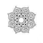 Taboo Tattoo 2 Hand Drawn Mandala Temporary Tattoo, various sizes available design 7
