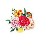 Taboo Tattoo 2 Elegant Watercolor Roses Temporary Tattoo, various sizes available in