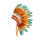 Taboo Tattoo 2 Elegant Watercolor Head Dress Temporary Tattoo, various sizes available Tribal