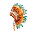 Taboo Tattoo 2 Elegant Watercolor Head Dress Temporary Tattoo, various sizes available Tribal