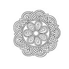 Taboo Tattoo 2 Hand Drawn Mandala Temporary Tattoo, various sizes available design 3