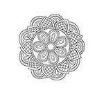 Taboo Tattoo 2 Hand Drawn Mandala Temporary Tattoo, various sizes available design 3