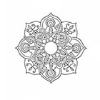 Taboo Tattoo 2 Hand Drawn Mandala Temporary Tattoo, various sizes available design 4