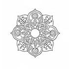 Taboo Tattoo 2 Hand Drawn Mandala Temporary Tattoo, various sizes available design 4