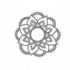 Taboo Tattoo 2 Hand Drawn Mandala Temporary Tattoo, various sizes available design 6