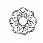 Taboo Tattoo 2 Hand Drawn Mandala Temporary Tattoo, various sizes available design 6
