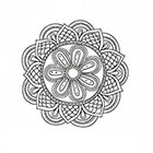Taboo Tattoo 2 Hand Drawn Mandala Temporary Tattoo, various sizes available design 8