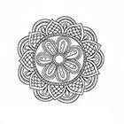 Taboo Tattoo 2 Hand Drawn Mandala Temporary Tattoo, various sizes available design 8