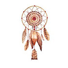 Taboo Tattoo 2 Watercolor Dreamcatcher Temporary Tattoo, various sizes available wrist finger ankle design 2