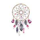 Taboo Tattoo 2 Watercolor Dreamcatcher Temporary Tattoo, various sizes available wrist finger ankle design 4