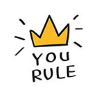 TattooWhatever You Rule Crown Temporary Tattoo - Set of 2