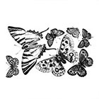 Arrow Tattoo Set of 7 Butterflies temporary tattoo Pattern Tattoo Temporary Tattoo wrist ankle body sticker fake tattoo