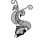 Taboo Tattoo 2 Dancing Boho Peacocks Temporary Tattoo, various sizes available Hippy Psychedelic