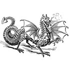 Taboo Tattoo 2 Vintage Dragon Temporary Tattoo, various sizes available Chinese Small Wrist Finger Ankle