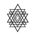 Taboo Tattoo 2 Dreieck Glyph Geometric Triangle Temporary Tattoo, various sizes available Chinese Small Wrist Finger Ankle