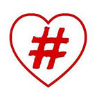 Taboo Tattoo 2 Hashtag Love #love Temporary Tattoo, various sizes available Small Wrist Finger Ankle