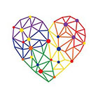 TattooWhatever Origami Rainbow Heart Temporary Tattoo - Set of 2
