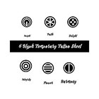 Taboo Tattoo 6 Glyph Diereck Geometric Values Temporary Tattoo, various sizes available Perfect for wrists fingers and ankles