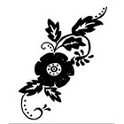 A Shine To It Floral temporary tattoo folk illustration