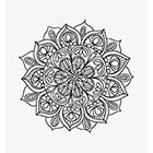 Taboo Tattoo 2 Hand Drawn Mandala Temporary Tattoo, various sizes available design 29