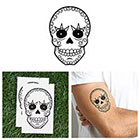 Tattify Rock N Roll Sugar Skull Temporary Tattoo Pack (Set of 2)