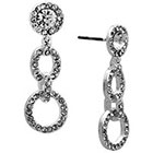 Target Set of 3 Drop Crystal Earrings - Silver