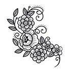 Tattoo You Floral temporary tattoo by Myra Oh