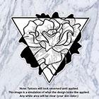 Tatzarazzi Floral Triangle Temporary Tattoo Flowers Rose Nature Black Gray Monochrome Simple Minimalist Geometric Line Illustration Hipster Original
