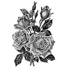 TattooNbeyond Temporary Tattoo - Vintage Rose Floral Tattoo