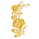 Royaltats 5 Rose Buds Temporary Tattoo - floral temporary tattoo, gifts under 20, Set of 12 Temporary Tattoos **Free Expedited Shipping **