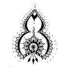 A Shine To It Henna Style Temporary Tattoo Hand Drawn Illustration