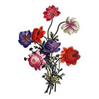 Arrow Tattoo Large Vintage Flowers Temporary Tattoo wrist ankle body sticker fake tattoo poppy red purple