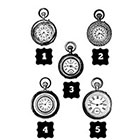 Taboo Tattoo 2 Vintage Steampunk Timepiece Clocks Pocketwatches Temporary Tattoo, various sizes available You Choose