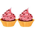 TattooNbeyond Temporary Tattoo - Set of 2 Cupcake
