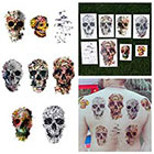 Tattify Skull and Bones Flower Nature Collage Temporary Tattoo Pack (Set of 16)