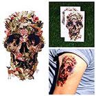 Tattify Jungle Skull Collage Animals Naure Deer Lion Birds Plants Body Art Temporary Tattoo (Set of 2)