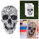 Tattify Hand Drawn Doodle Skull Collage Sketch Cartoon Body Art Temporary Tattoo (Set of 2)