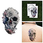 Tattify Space Flower Skull Temporary Tattoo - Blossom (Set of 2)