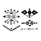 Arrow Tattoo 5 Native American temporary tattoo Pattern Tattoo Temporary Tattoo wrist ankle body sticker fake tattoo navajo