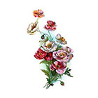 Arrow Tattoo Poppies Bouquet tattoo Pattern Tattoo Temporary Tattoo wrist ankle body sticker fake tattoo