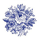 Arrow Tattoo Large Blue Flowers temporary tattoo Pattern Tattoo Temporary Tattoo wrist ankle body sticker fake tattoo vintage