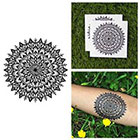 Tattify Intricate Flower Mandala Symmetrical Henna Detailed Traditional Temporary Tattoo (Set of 2)