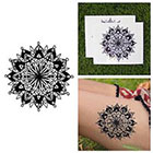 Tattify Symmetrical Mandala Detailed Circle Shape Traditional Line Temporary Tattoo (Set of 2)