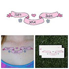 Tattify Cartoon Banner Flowers Hearts Inspiration Independence Body Art Temporary Tattoo Pack (Set of 2)
