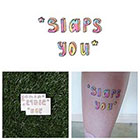 Tattify Slap You Cartoon Typography Rainbow Tie Dye Body Art Temporary Tattoo Pack (Set of 2)