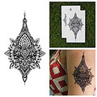 Tattify Detailed Henna Style Intricate Symmetrical Temporary Tattoo (Set of 2)