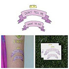 Tattify Cartoon Crown Banner Inspirational Independence Body Art Temporary Tattoo Pack (Set of 2)